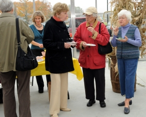 "Attendees talk with Joan Verrill (right)  during Saturday's ""Chef Fest and Book Signing."""