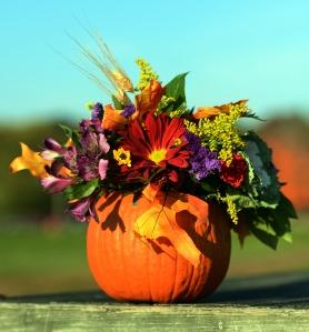 Pumpkin Floral Centerpiece, 2013